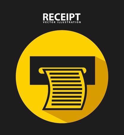 eftpos: receipt print design, vector illustration eps10 graphic