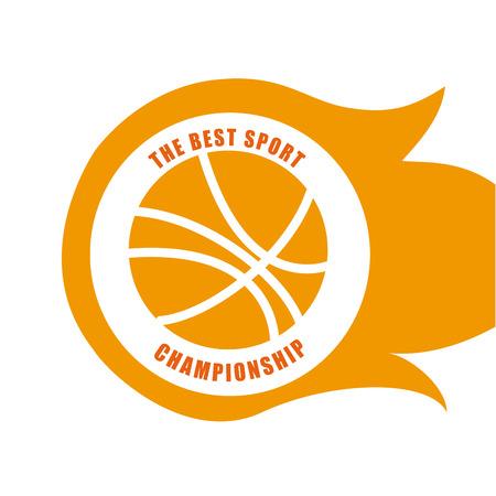 Basketball design  over white background, vector illustration. Vector