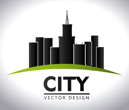 urbanisierung: St�dtebau, auf wei�em Hintergrund, Vektor-Illustration.