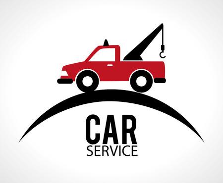 白い背景に、ベクトル図で車のデザイン。