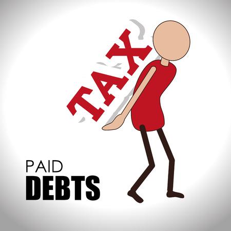 indebtedness: Money design over white background,vector illustration.