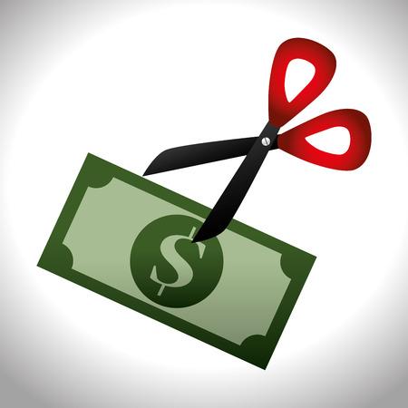 Money design over white background,vector illustration. Vector