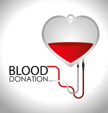 blood bag: Medical design over white background,vector illustration. Illustration