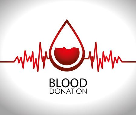 blood drops: Medical design over white background,vector illustration. Illustration
