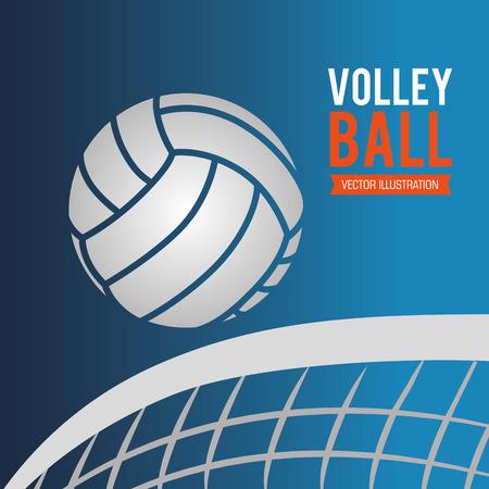 net: Sport design over blue background, vector illustration.