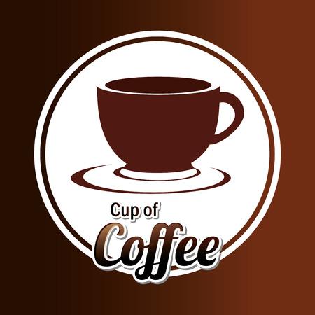 fond caf�: conception de caf� autour d'un caf� fond, illustration vectorielle. Illustration
