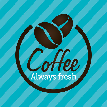 traditional illustration: Coffee design over blue background, vector illustration. Illustration
