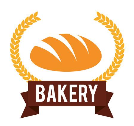Bakery design over white background, vector illustration. Vector