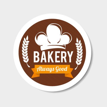 Bakery design over gray background, vector illustration.