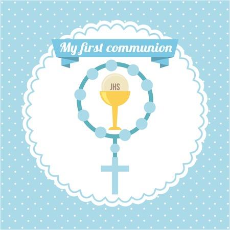 premi�re communion: ma premi�re conception de la communion Illustration