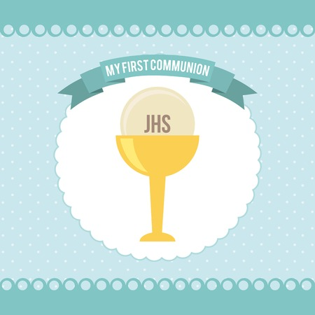 première communion: ma première conception de la communion Illustration