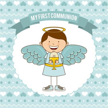 mijn eerste communie ontwerp Stock Illustratie