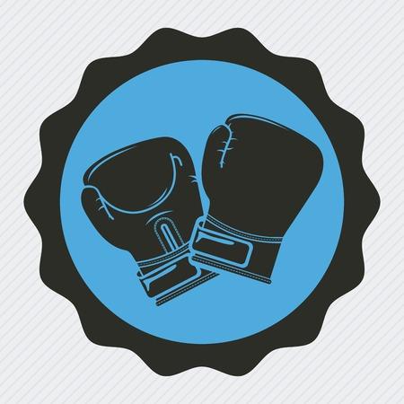 guantes de box: dise�o del deporte del boxeo Vectores