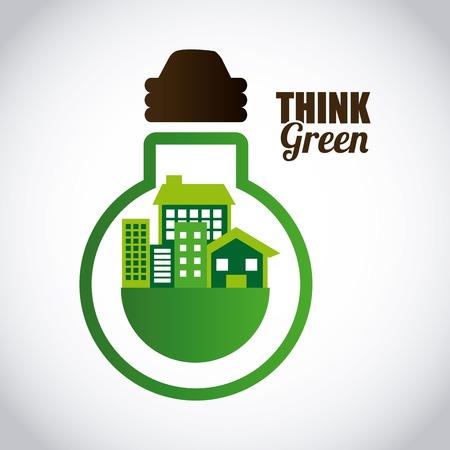 think green design, vector illustration  Vector