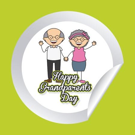 happy grandparents day design, vector illustration  Vector