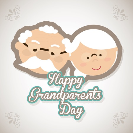 grandmother: happy grandparents day design, vector illustration eps10 graphic Illustration