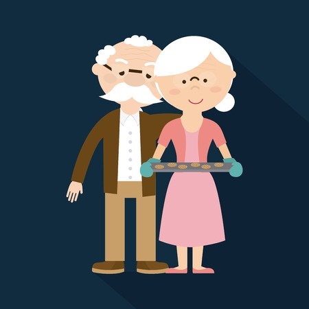 family fun: happy grandparents day design, vector illustration eps10 graphic Illustration