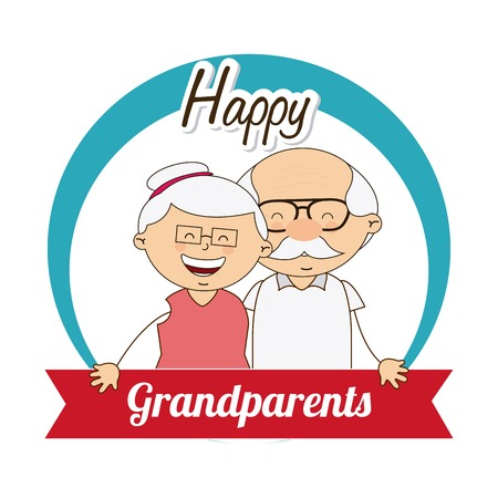 glücklich Großeltern Tag, Design, Vector Illustration eps10 Grafik
