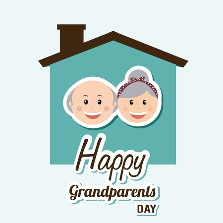 Les grands-parents heureux conception de jour, vecteur illustration graphique eps10 Banque d'images - 35123270