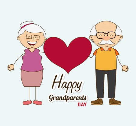 grandparents: happy grandparents day design, vector illustration eps10 graphic Illustration