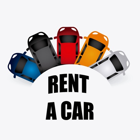 rent a car design, vector illustration eps10 graphic Ilustrace