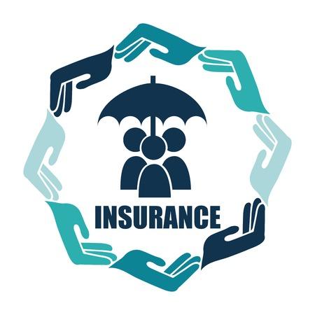 insurance icon design, vector illustration eps10 graphic