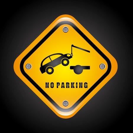 no parking design, vector illustration eps10 graphic Vector