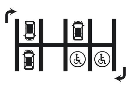 car parking: parking signal design, vector illustration eps10 graphic