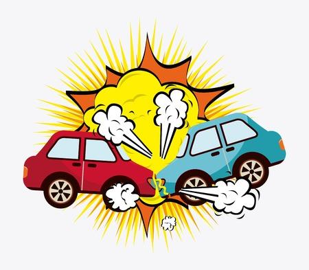 carro caricatura: dise�o de los coches de choque, ejemplo gr�fico del vector eps10