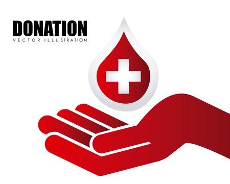 donate blood design, vector illustration eps10 graphic