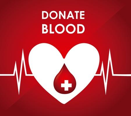 Donar sangre diseño, ilustración vectorial gráfico eps10 Foto de archivo - 35125252