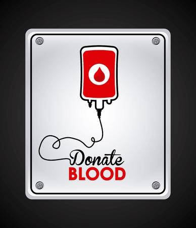 blood bag: donate blood design, vector illustration eps10 graphic