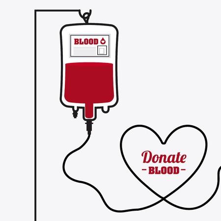 doneren van bloed ontwerp, vectorillustratie eps10 grafische Stock Illustratie