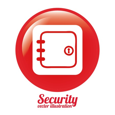 security icon design, vector illustration eps10 graphic Vector