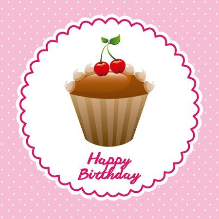 happy birthday design, vector illustration eps10 graphic Vector