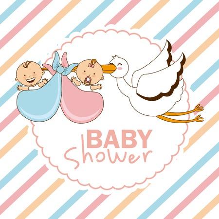 cigueña: bebé diseño de la ducha