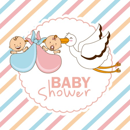 cigogne: conception de baby shower