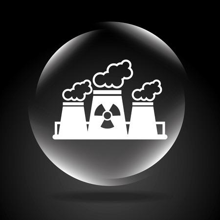 plante design: conception de la centrale atomique Illustration