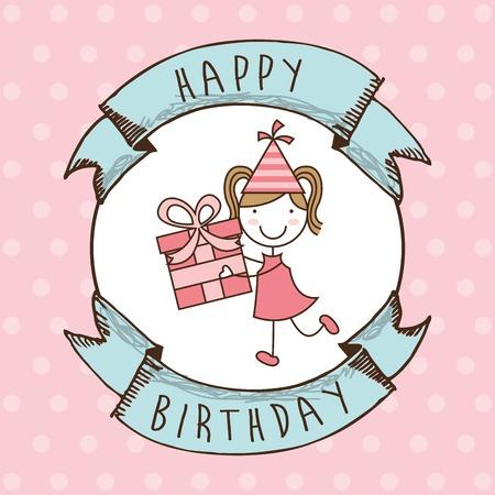 birthday decoration: happy birthday design
