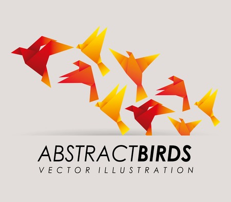 origami bird: abstract bird design