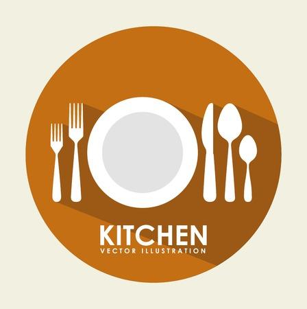 kitchen tool design Vector