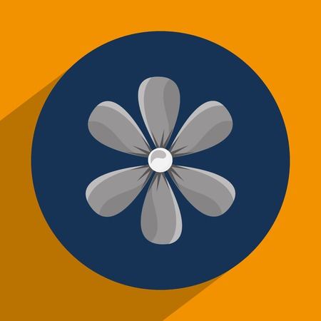 relax garden: flower icon design