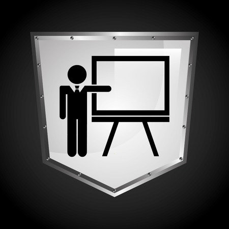 curso de capacitacion: icono de formación de diseño Vectores