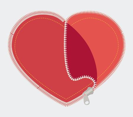 Zipper design over white background, vector illustration. Çizim