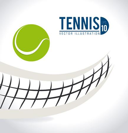 흰색 배경, 벡터 일러스트 레이 션 위에 테니스 디자인입니다.