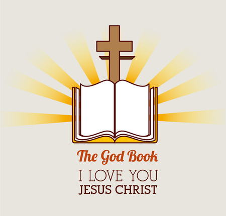 holy book: Religion design over white background, vector illustration.