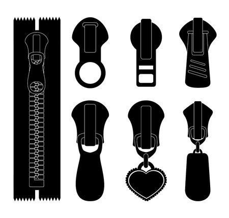 Zipper design over white background, vector illustration. Reklamní fotografie - 35154577