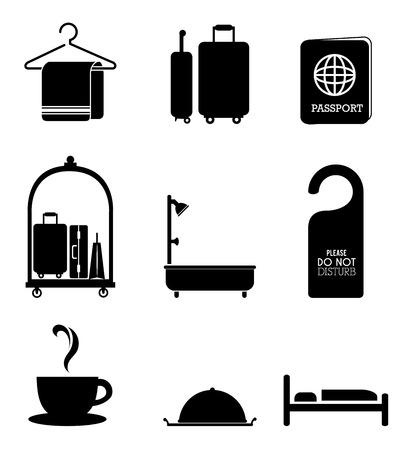 lodging: Hotel design over white background, vector illustration.