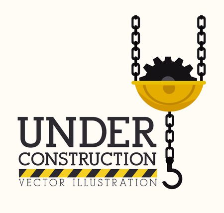 recondition: Under construction design over white background, vector illustration. Illustration