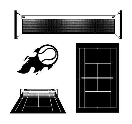 Tennis design over white background, vector illustration. Vector
